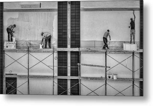 In The Rectangles Metal Print