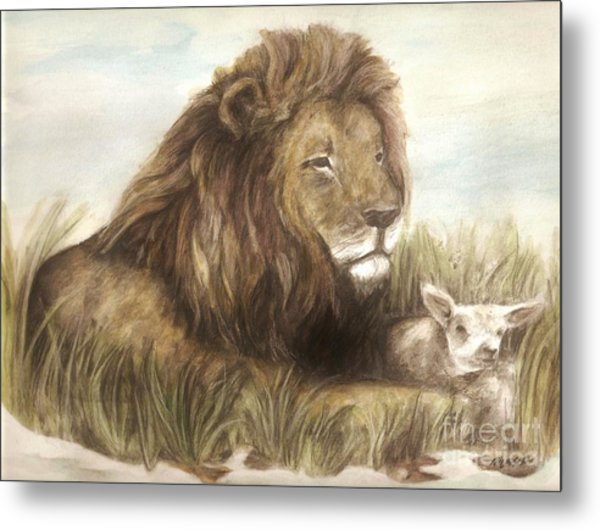 In With The Lamb Metal Print