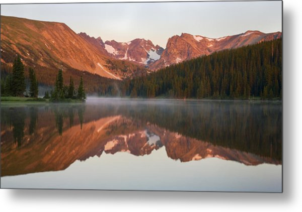 Indian Peaks At Sunrise Metal Print
