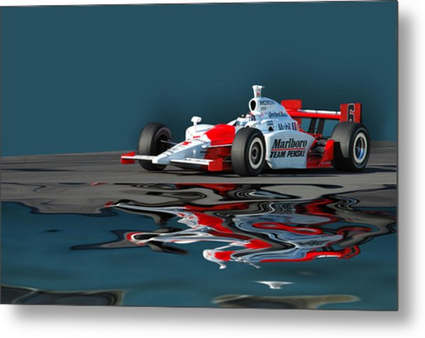 Indy Reflection Metal Print