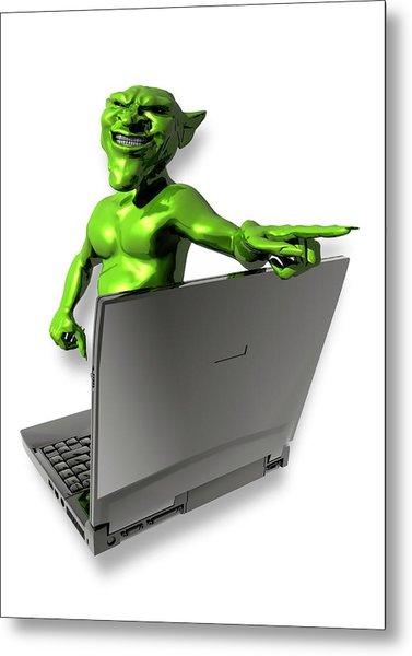 Internet Troll Metal Print by Victor Habbick Visions