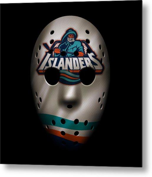 Islanders Jersey Mask Metal Print