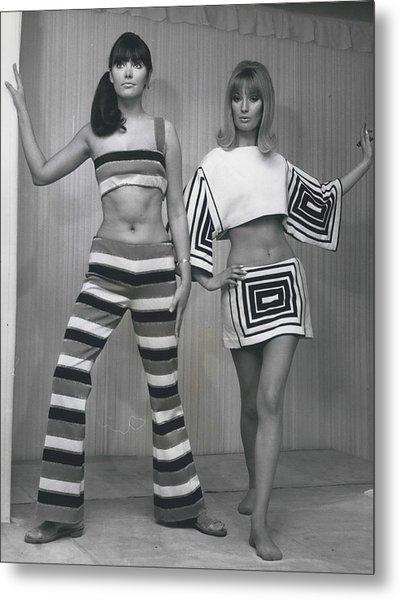 Italian Knitwear Fashion Show In Londoan Metal Print by Retro Images Archive