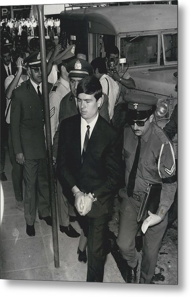 Jailed Arabs Await Skyjack Swap Metal Print by Retro Images Archive