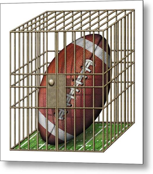 Jailed Football Metal Print