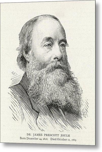 James Prescott Joule (1818-1889) Metal Print by  Illustrated London News Ltd/Mar