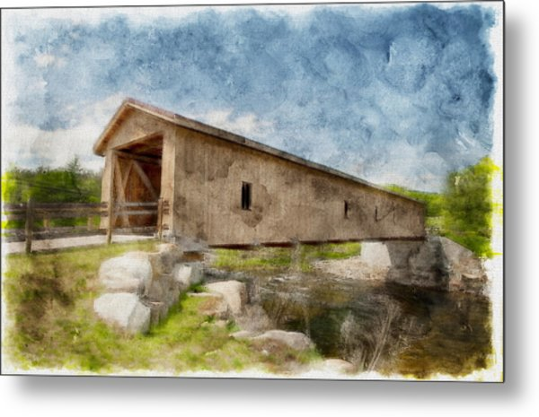 Jay Covered Bridge Metal Print