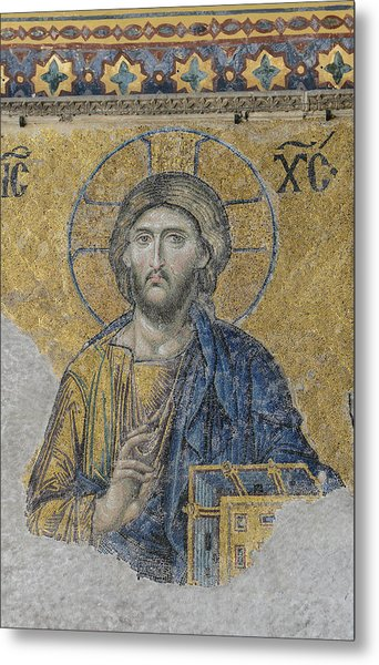 Jesus Christ In Istanbul Turkey Metal Print