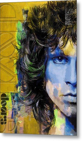 Jim Morrison Metal Print by Corporate Art Task Force