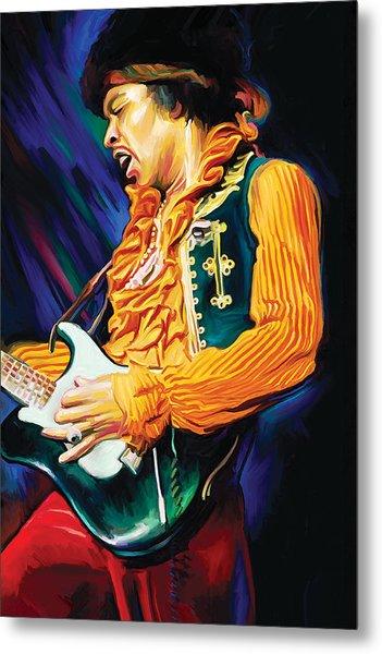 Jimi Hendrix Artwork Metal Print by Sheraz A
