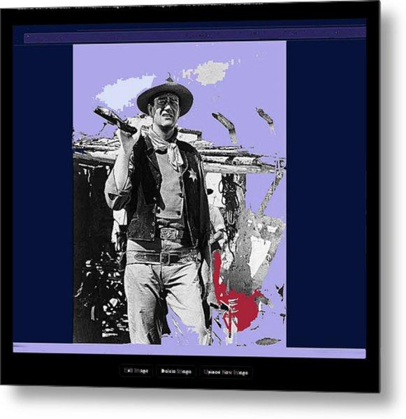 John Wayne Rio Bravo Publicity Photo 1959 Old Tucson Arizona Metal Print