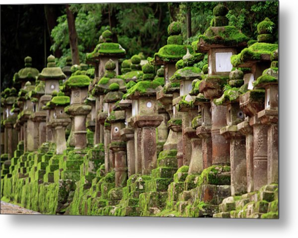 Kasuga-taisha Shrine In Nara, Japan Metal Print by Paul Dymond