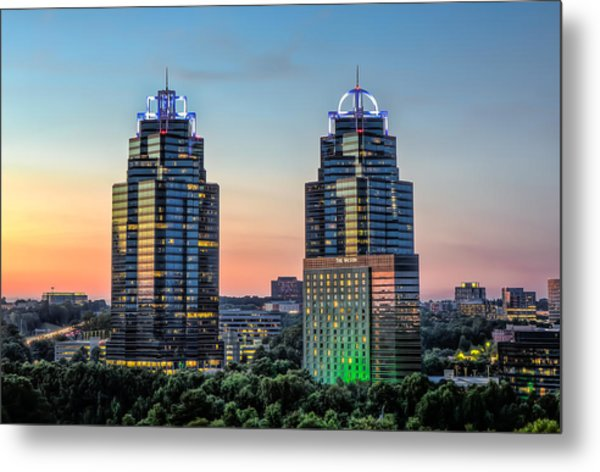 King And Queen Buildings Metal Print