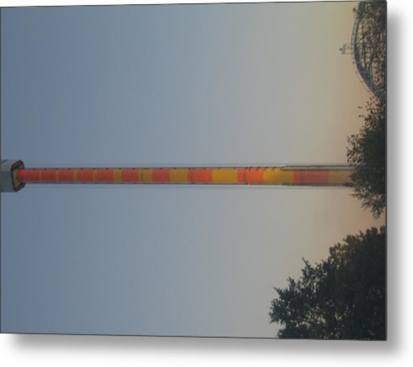Kings Dominion - Drop Tower - 12122 Metal Print by DC Photographer
