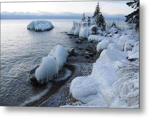 Lake Superior Blues Metal Print