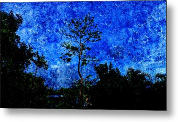 Landscapes In Blue Sky Metal Print