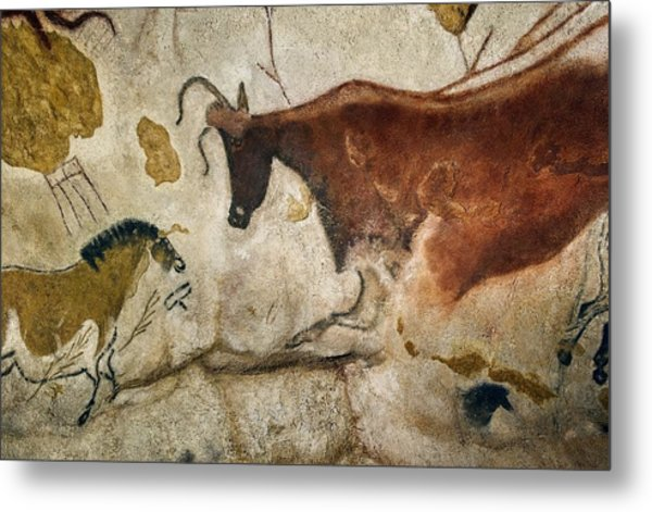 Lascaux II Cave Painting Replica Metal Print by Science Photo Library