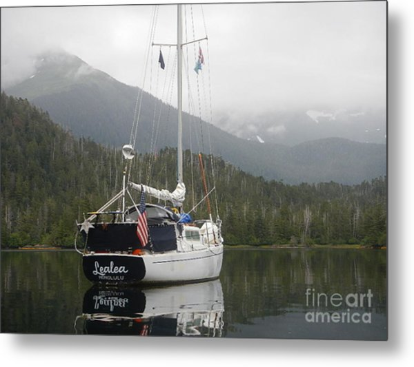 Lealea At Anchor Metal Print