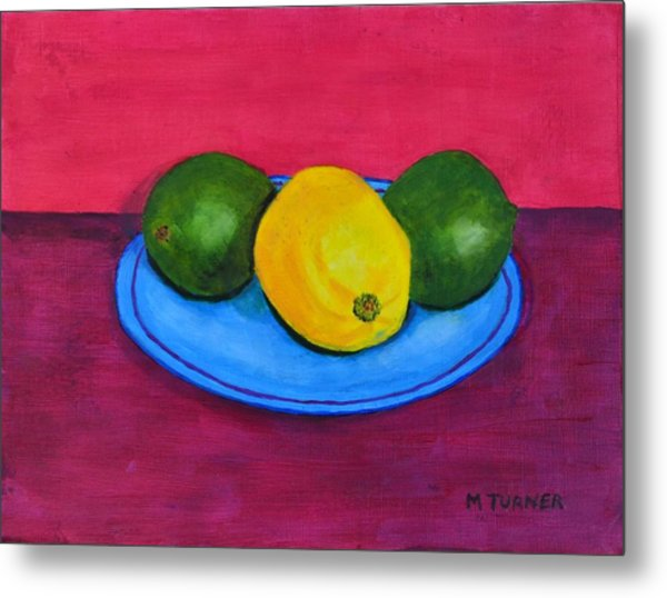 Lemon Or Lime Metal Print