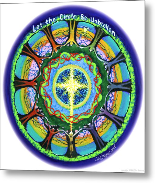 Let The Circle Be Unbroken Metal Print