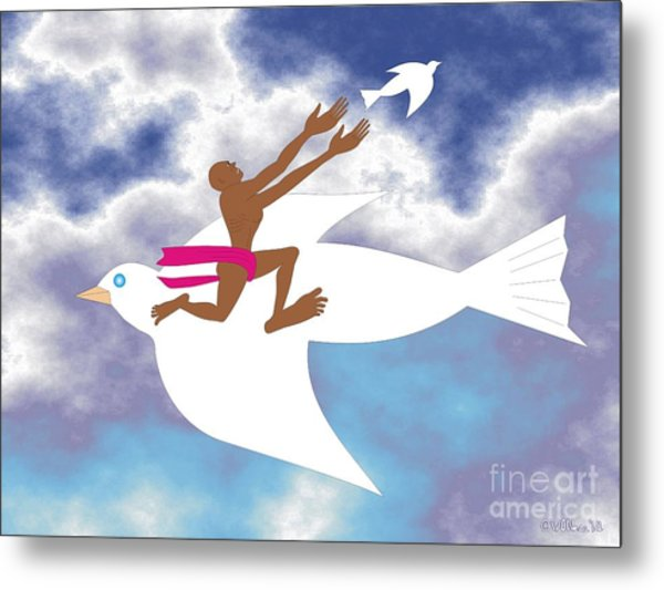 Letting Go 2 Metal Print by Walter Oliver Neal