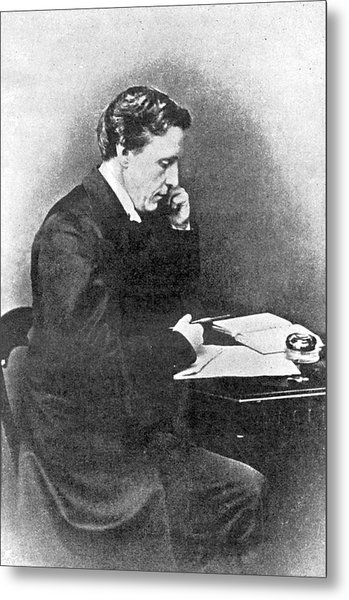 Lewis Carroll Alias Charles Lutwidge Metal Print by Mary Evans Picture Library