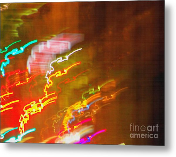 Light Painting - Paris - France  Metal Print by Francoise Leandre