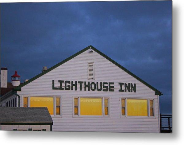 Lighthouse Inn Metal Print
