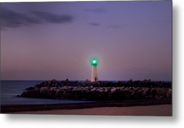 Lighthouse Santa Cruz Metal Print