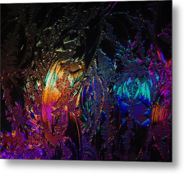 Lights Behind Frosted Glass Metal Print