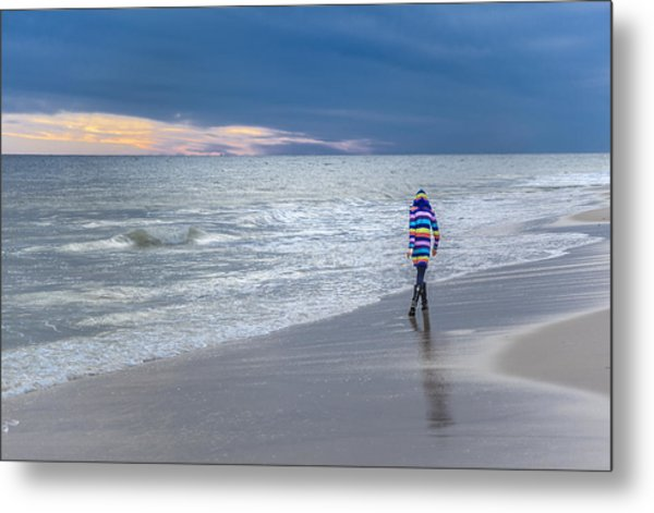Little Girl At The Beache Metal Print