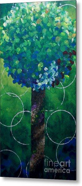 Lollipop Tree Green Metal Print