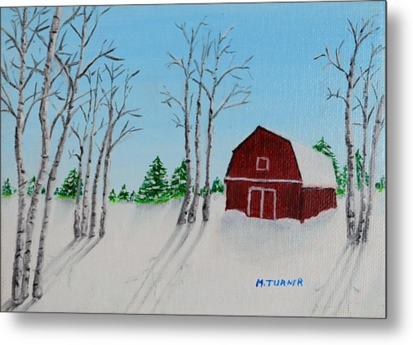 Lonely Barn Metal Print