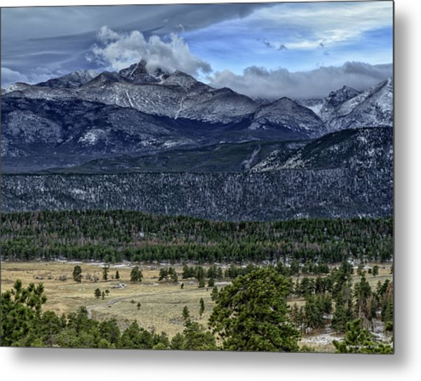 Long's Peak Metal Print by Tom Wilbert