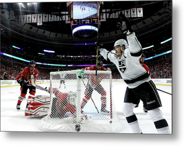 Los Angeles Kings V Chicago Blackhawks Metal Print