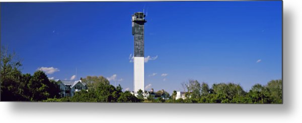 Low Angle View Of A Lighthouse Metal Print