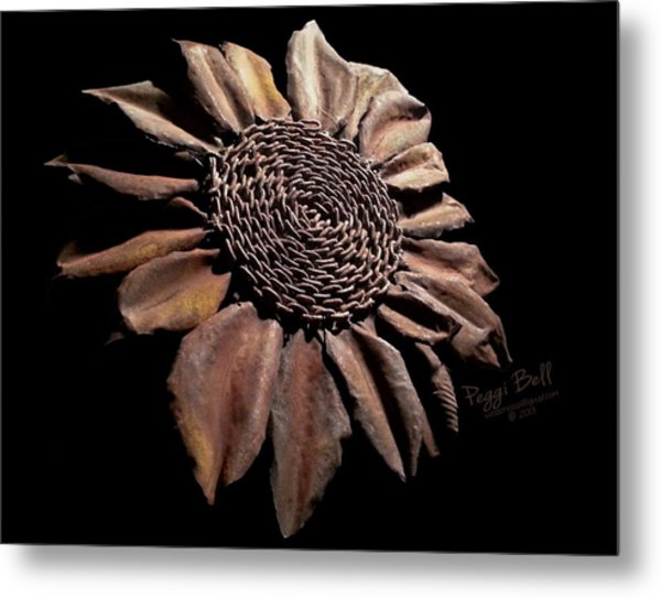 Mailbox Sunflower Metal Print