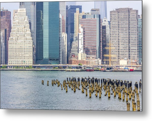 Manhattan On The East River Metal Print