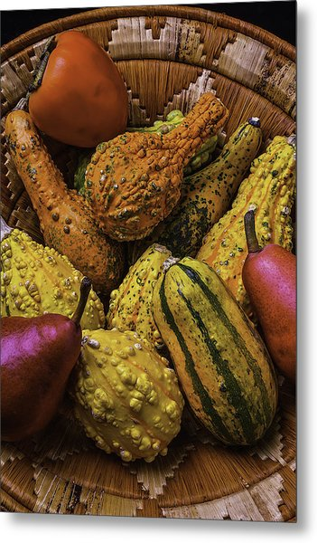 Many Colorful Gourds Metal Print