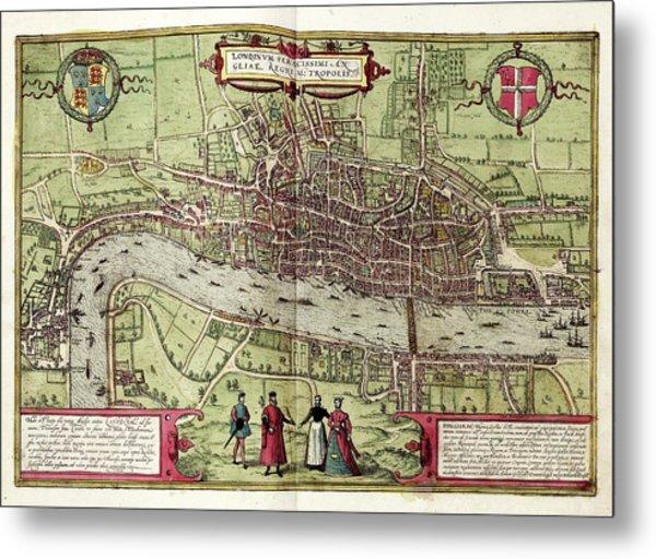 Map Of London Metal Print