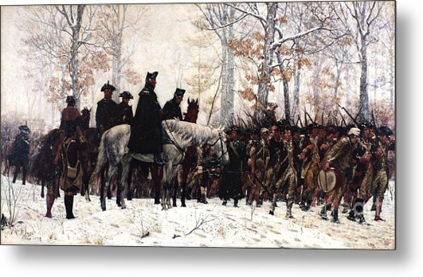 March To Valley Forge Metal Print by Pg Reproductions