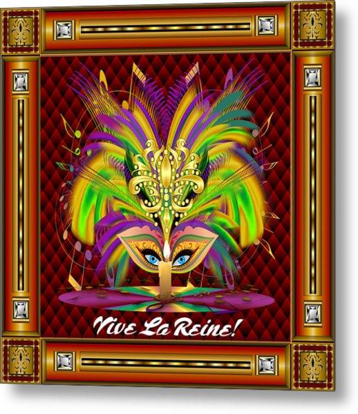 Mardi Gras Queen Style 2 Vector Sample Metal Print