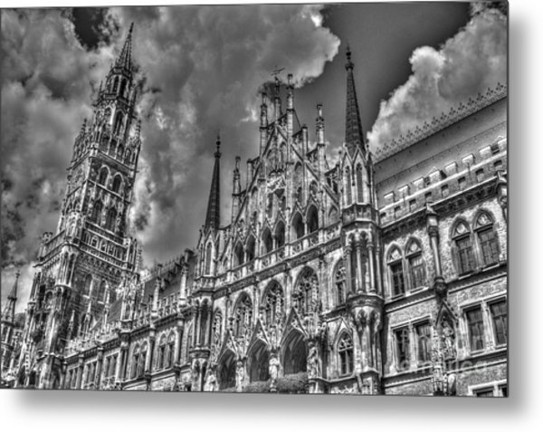 Marienplatz In Munich Metal Print