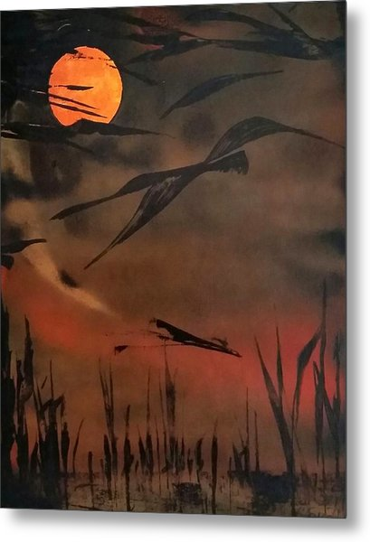 Marsh Birds Metal Print