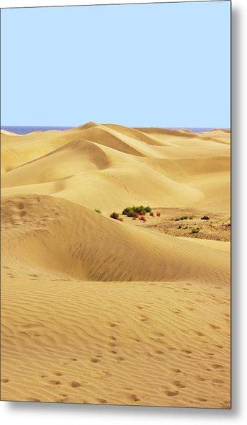 Maspalomas Sand Dunes. Metal Print