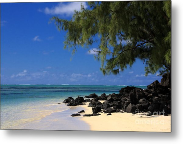 Mauritius Blue Sea Metal Print by IB Photography