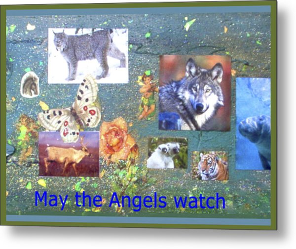 May The Angels Watch Metal Print