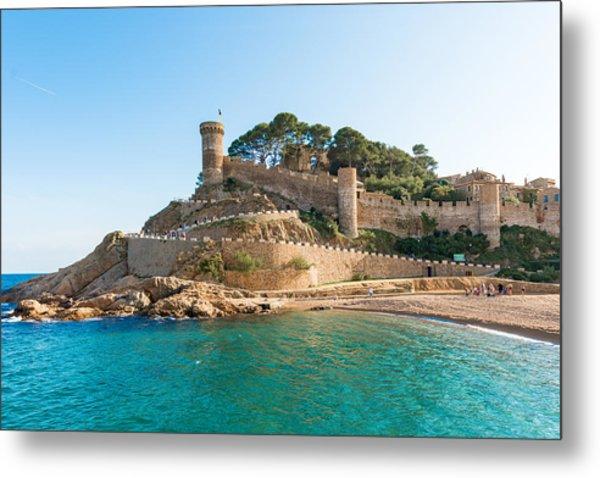 Medieval Castle In Tossa De Mar Spain Metal Print