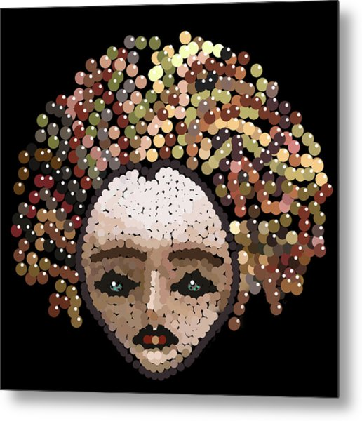 Medusa Bedazzled After Metal Print