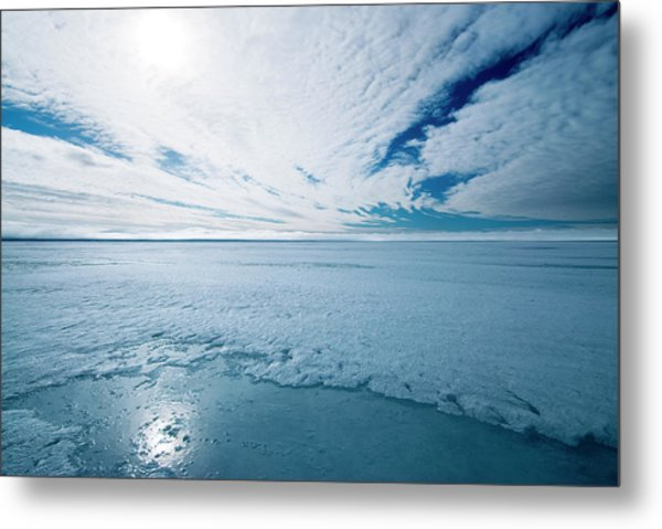 Melting Arctic Sea Ice Metal Print by Louise Murray/science Photo Library